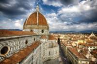 High Angle View of the Basilica of Florence