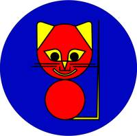 Why always Square Why not Round Red Cat