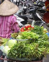 Vietnamese Woman Selling Produce