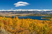Twin Lakes Colorado Autumn Snow Dusted Mountains