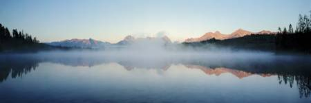 Reflection of mountains in a lake Little Redfish L