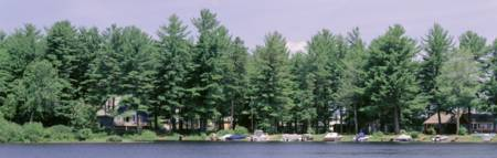 Powerboats & cabins on Sebago Lake ME