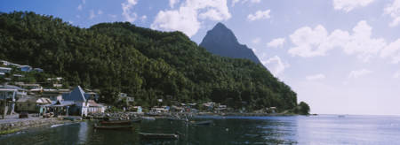 Soufriere and Petit Piton St Lucia Windward Island