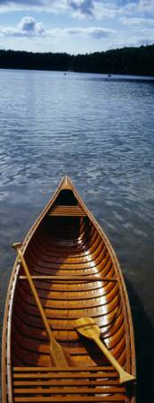 Canoe on Walden Pond MA