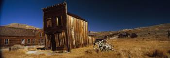 Abandoned buildings on a landscape Bodie Ghost Tow