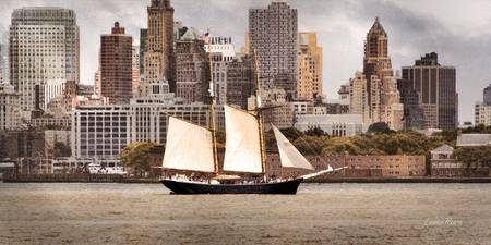 Schooner in New York Harbor