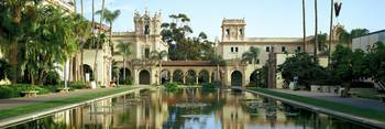 Reflecting pool in front of a building Balboa Par