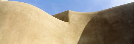 Abstract Pueblo Style Architecture Santa Fe NM