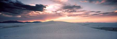 Sand dunes in a desert White Sands National Monum
