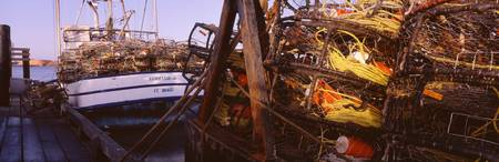 Crab Pots on Boats