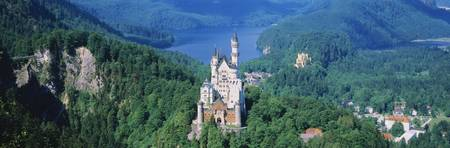 High angle view of a castle Neuschwanstein Castle