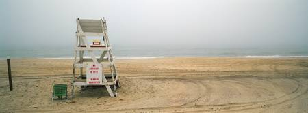Lifeguard chair on the beach