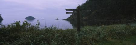 Trail sign at the coast