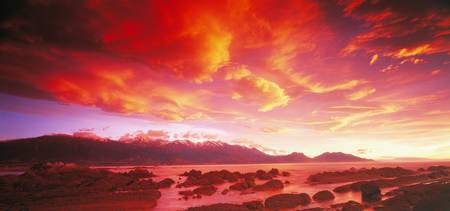 Sunset Kaikoura South Island New Zealand