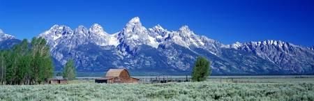 Barn and Tetons Grand Teton National Park WY
