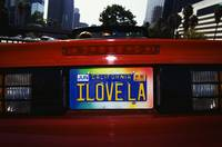 I Love LA California Vanity License Plate