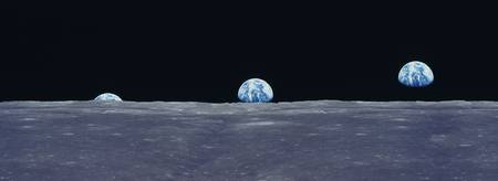 Earth Rise fr Lunar Surface