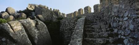Low angle view of staircase of a castle
