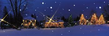 Holiday lights Laurentide Quebec Canada