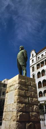Low angle view of a statue of Jan Hendrik Hofmeyr