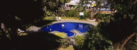 High angle view of a swimming pool