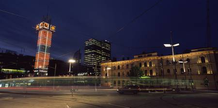 Railway station at night Oslo Central Station Osl