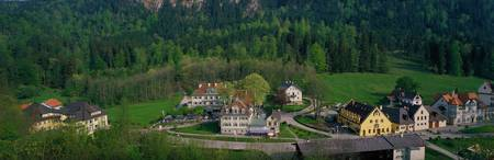Village of Hohen-Schwangau Bavaria Germany