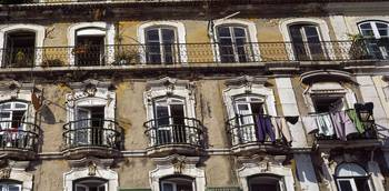 Low angle view of a building Lisbon Portugal