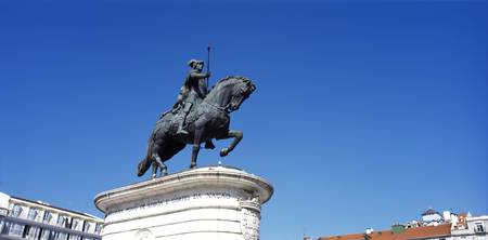 Low angle view of a statue of Dom Joao I the King
