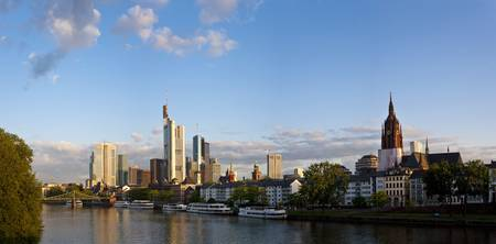 Buildings at the waterfront Main River Frankfurt