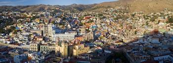 Aerial view of a city Guanajuato Mexico