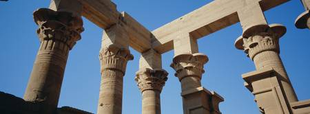 Low angle view of the ruins of columns