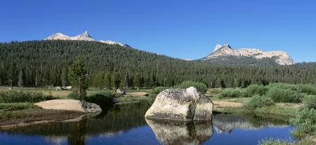 Tuolumne River Cathedral Peak Unicorn Peak Yosemi