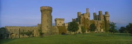 Lawn in front of a castle