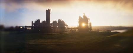 Old oil refinery at dusk Gasworks Park Seattle Ki