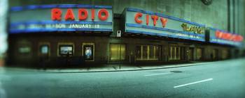 Stage theater at the roadside Radio City Music Ha