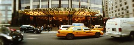 Cars in front of a hotel Trump International Hote