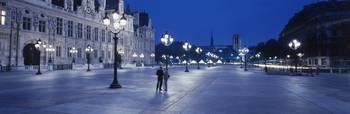 Hotel de Ville and Notre Dame Cathedral Paris Fra