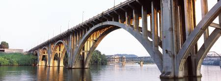 Bridge across river Henley Street Bridge Tennesse