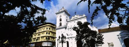 Low angle view of a cathedral Bolivar Square Cara