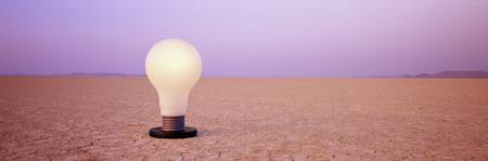 Light bulb in a desert