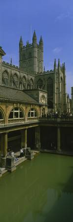 Roman Baths Abbey Bath England