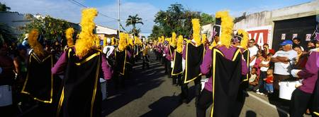 People celebrating carnival Carupano Sucre State