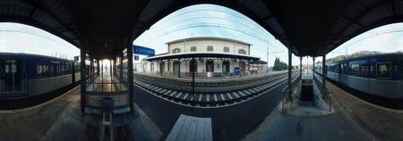 360 degree view of a railroad station Estaque Bou