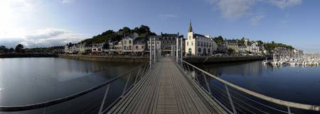 Pier on a port Binic Cotes dArmor Brittany France