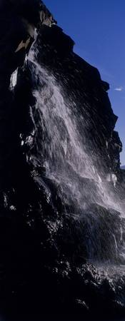 Close-up of a waterfall
