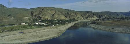 High angle view of Columbia River