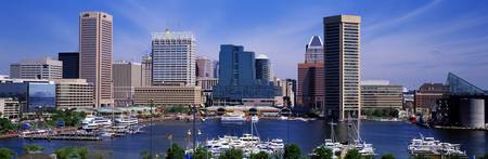 Inner Harbor Federal Hill Skyline Baltimore MD