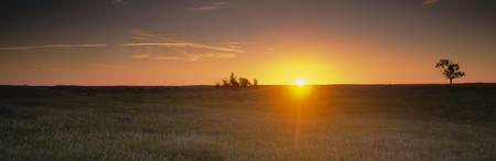 Sunrise Over Prairie Grasslands ND