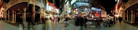 360 degree view of a city at dusk Broadway Manhat